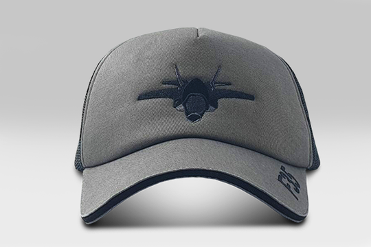 F35 Fighter Cap - black and smoke   Large