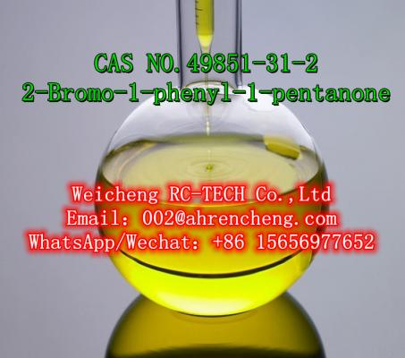 100% Safe Delivery Light Yellow Liquid 2-Bromo-1-Phenyl-Pentan-1-One CAS 49851-31-2 in Stock