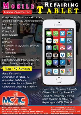 Special Training for Mobile & Tablet PC Servicing in Dubai