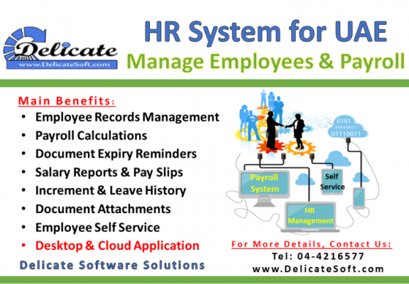 HR Software with Payroll Process in Abu Dhabi
