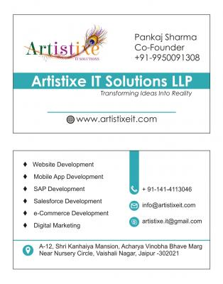 E-Commerce app solution Artistixe IT Solutions LLP