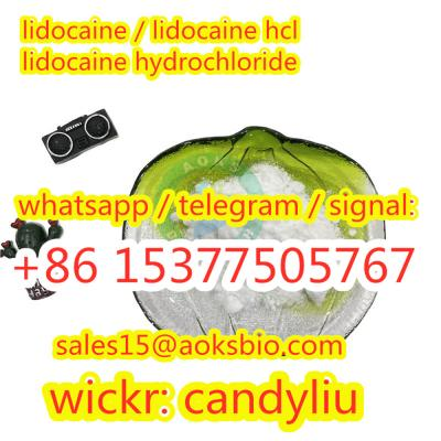 lidocaine hydrochloride, lidocaine hcl powder with fast delivery, 100% pass customs,sales15@aoksbio.com