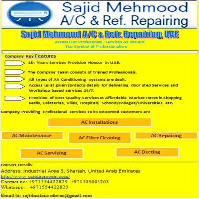 Sajid Mehmood A/C and Refr. Repairing