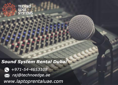 sound system Rental Dubai for  Events, Meetings, Conferences‎- Techno Edge