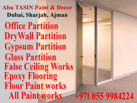 Gypsum Partition Company Ajman Sharjah 0559984224