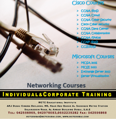 Job Oriented Networking Certification Courses in Dubai #MCTC Dubai