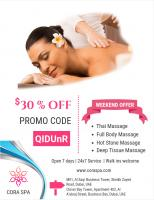 Get 30 % off on your massage session at Cora spa