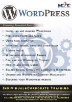 WordPress Web Development training in Dubai!