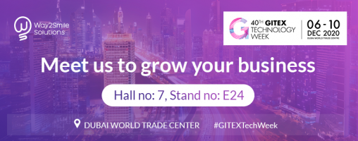 Way2Smile is now an exhibitor at 40th GITEX Tech Week 2020!