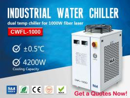 Closed Loop Water Chiller Unit for 1000W Fiber Laser Cutting Machine