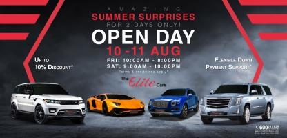 The Elite Cars Luxury Car Open Day - Dubai's Biggest Luxury Car Event This Year