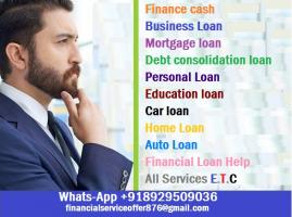 I give out loans to businesses and individuals at a low and affordable interest rate of 3%.