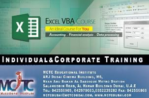 Microsoft Excel VBA course in Dubai