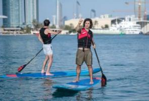 What are the benefits of Kneeboard wakeboard in Abu Dhabi?