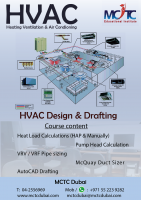 Professional HVAC Designing & Drafting Training in Dubai