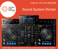 Techno Edge system provides Quality sound systems for rent in dubai fo